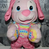 Большой танцующий интерактивный щенок Fisher price (розовый)