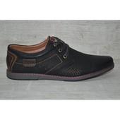 GL3802-1 (41) Мужские перфорированные туфли из кожи! Распродажа последних размеров -70%