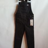 Стильный джинсовый комбинезон скинни на девочку французского бренда Kiabi, 7 лет, Оригинал