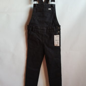 Стильный джинсовый комбинезон скинни на девочку французского бренда Kiabi, 3 года, Оригинал