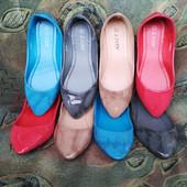Разноцветные лакированные балетки Lion размеры 36, 38, 39