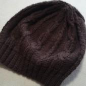 Новая красивая шапка вязкой жгутами р. 55-58 оверсайз.
