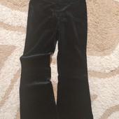 Стильные стрейчевые брюки Next из велюра, размер 8. Дорогой сток!
