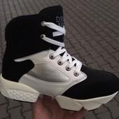 Кроссовки - ботинки - сникерсы. Натуральная кожа. 35 р