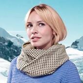 ☘ Теплый двусторонний снуд- шарф от Tchibo(Германия), размер универсальный