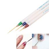 Кисти для рисования fine Nail Art\3шт