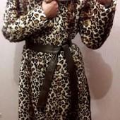 Шикарная Шуба из лисы+2 ремня,цвет-леопард.Почти новая! M-L