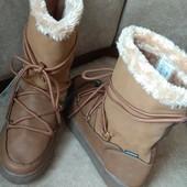Esmara waterproof зимние шикарные ботинки, водонепроницаемые, термостелька 40р-26.5см
