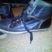 кожанные кроссовки-ботинки
