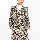 Плащ Снежная королева,F&F цвет бежевый / принт леопард р 10 (46) идеальный