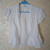 Белая х/б блуза (батист)