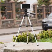 Штатив для селфи раскладной портативный 35-102 см трипод с чехлом для фотоаппарата, телефона 3120