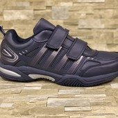 Мужские кожаные кроссовки на липучках Bona sport-shoes! новая коллекция 2019!!