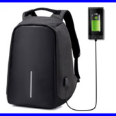 ✅ Рюкзак антивор с Usb design body с защитой от карманников черный. серый ( Хит сезона!)