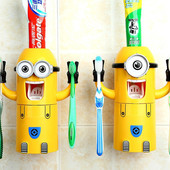 Автоматический дозатор для зубной пасты с держателем для 2-х щеток!!