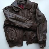 Курточка-бомбер, экокожа