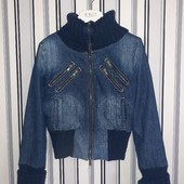 Джинсова утеплена курточка Terranova,розмір S(пог49)
