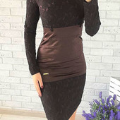 Кружевное платье. Стильно дорого смотрится. Производство Турция. размер s.