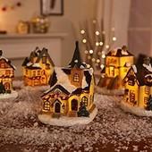 Lidl Германия Рождественская улица - штучный камень+ручная роспись+лед подсветка