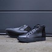 Мужские зимние ботинки Ravest распродажа из натуральной кожи
