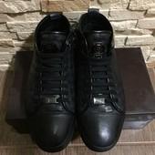 Чоловічі шкіряні зимові черевики,розмір 41