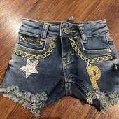 Джинсовые шортики Philipp Plein размер 2года, новые
