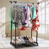Акция! Цена в магазинах от 450 грн! Универсальная двойная стойка для одежды(30 кг)