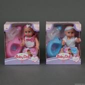 """Многофункциональная кукла""""Baby born""""закрыв./открыв. глазки,пьет,писяет.Бутылочка,соска,горшок.2 вида"""