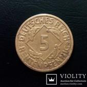 Монета 5 рентенпфеннигов 1924 года(G), Германия.