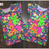 Платье-туника для девочек.Размер на рост 92-98см.Замеры в описании!