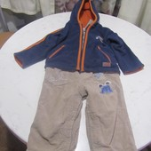 Полукомбинезон Next+флисовая куртка р. 80-86