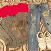 Пакет одежды на девочку от 3 до 5 лет, смотрите замеры..