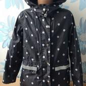 Суперовая ветровка/дождевик на флисе со светоотражателями возраст 6-8 лет