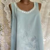 Блуза из двойного шифона с удлиненной спинкой