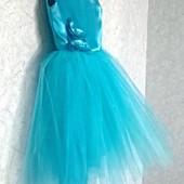 Шикарное платье на выпускной или на любой праздник!128-124см