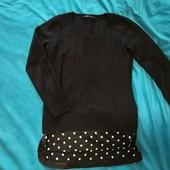 Крутой, тёплый кашемировый свитерок с имитацией рубашки Liao woman. P. s