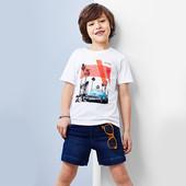 Высококачественная трикотажная футболка от Tchibo(Германия), размеры: 134/140 (8-10 лет)
