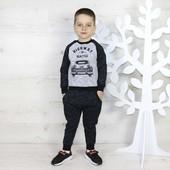 Тепленький костюм для мальчикана рост 86-92 серый с черным как на первом фото