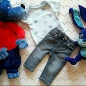 Лот.комплект.набор,возраст 0-3мес±.футболка и джинсы,в идеальном состоянии,без нюансов