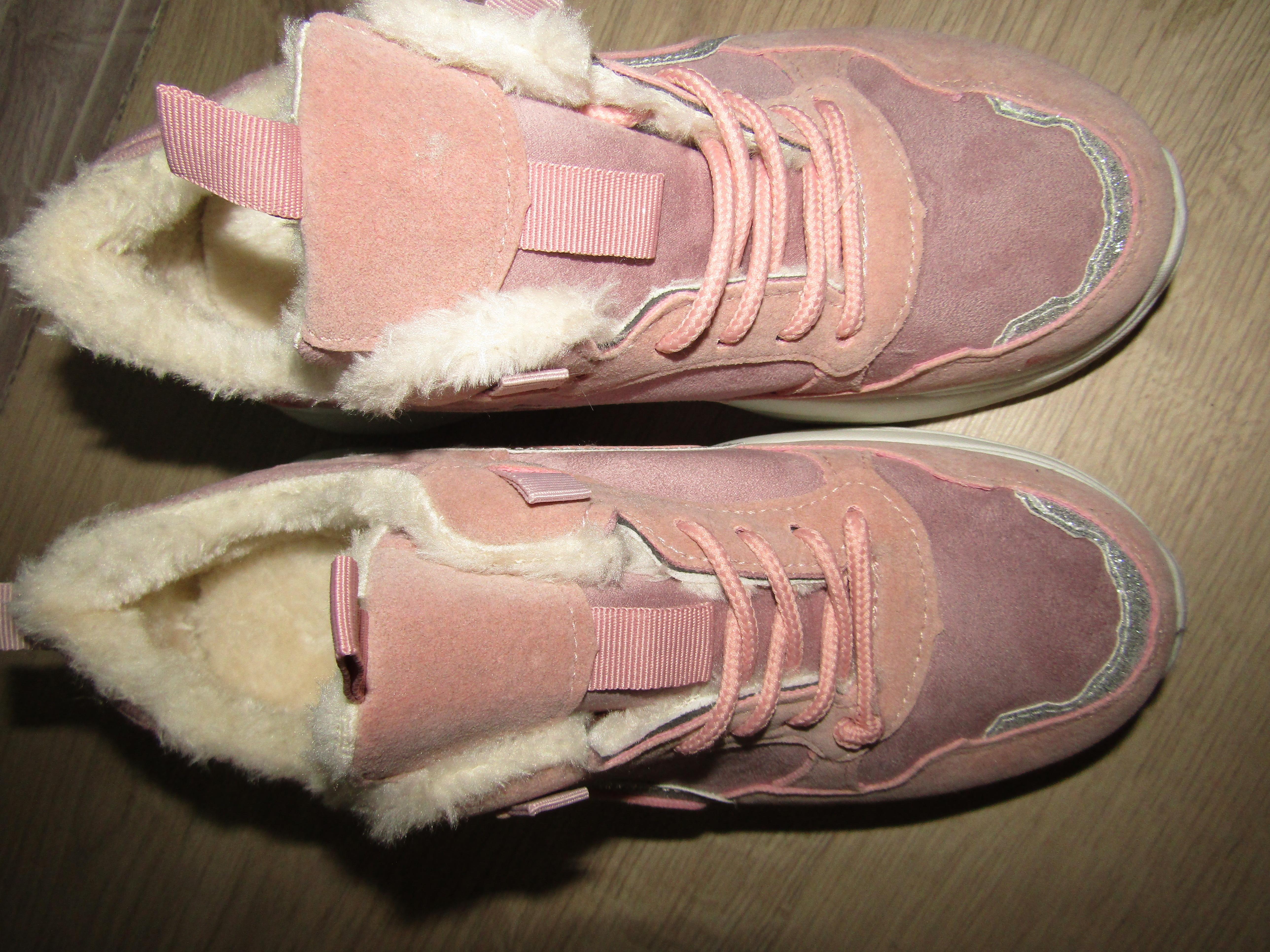 Новые утепленные кроссовки! Размер 39 (маломерят на размер, стелька 24 см) - Фото №2