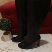 Високі чоботи із натуральної шкіри, від Cosmoparis, р.41, устілка 27см.