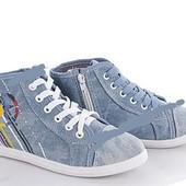 Новые кеды джинс, очень красивые 35р-21,5 мс