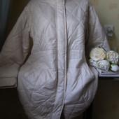 Не пропустите!Замечательное стеганное деми пальто королевский размер по груди-64!