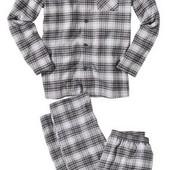 Мужской качественный фланелевый домашний костюм пижама,рубашка+штаны,Livergy. Размер на выбор!