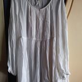 Белое, шелковое платье-туника Next, р.14 (наш 50)