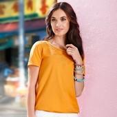 Яркая блуза, футболка из хлопка Тchibo (Германия), размер 32/34 евро (наш 38/40)