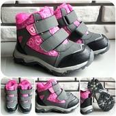 Хорошенькие ботиночки евро-зима для девочки. Яркие и качественные! Скидка УП 5%