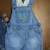 ~ Lupilu ~ голубой джинсовый комбинезон/шорты, 86