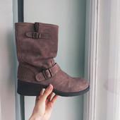 Женские ботинки, состояние хорошее! Натуральная замша! Р-40 по ст.-26см, Германия.