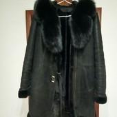 Шикарное пальто-дубленка